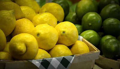 Farm Stand Photograph - Lemons And Limes by Julie Palencia