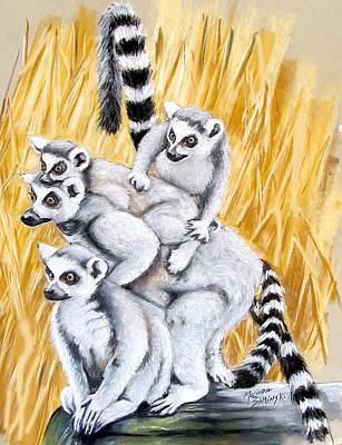 Lemurs Original by Melinda Saminski