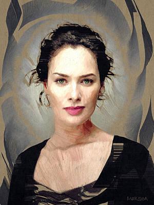 Cersei Painting - Lena Headey by Marina Likholat