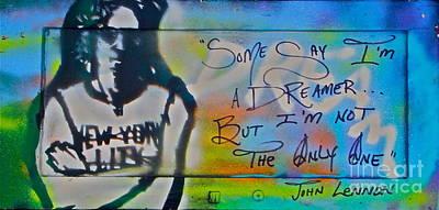 Lennon The Dreamer Print by Tony B Conscious