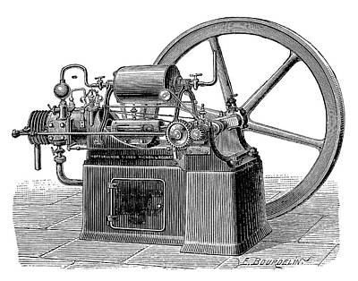 Lenoir Gas Engine Print by Science Photo Library