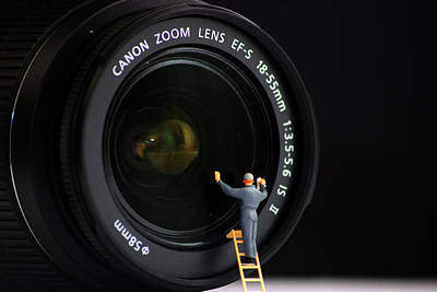 Miniature Photograph - Lens Cleaner by Martin Newman
