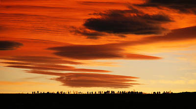 Colorado Photograph - Lenticular Sunset 1 by Marilyn Hunt