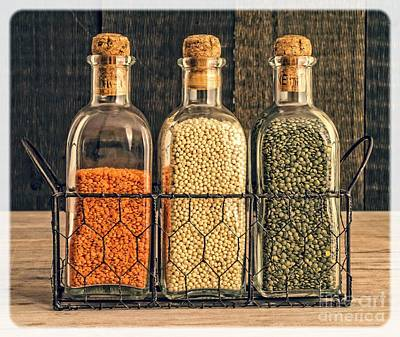 Dried Photograph - Lentils - Kitchen Art by Edward Fielding