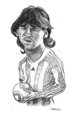 Messi Drawing - Leo Messi by Sri Priyatham