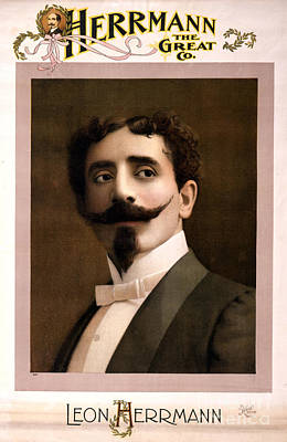 Leon Herrmann, French Magician Print by Photo Researchers