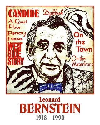 Leonard Bernstein Print by Paul Helm