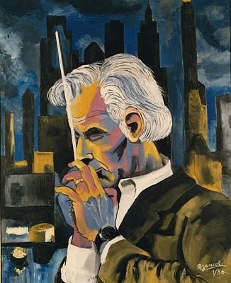 Leonard Bernstein Portrait Print by Preciada Azancot