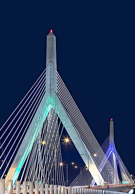 Zakim Photograph - Leonard P. Zakim Bunker Hill Memorial Bridge II by Susan Candelario