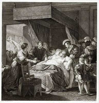 Of Artist Photograph - Leonardo Da Vicni On His Deathbed by Library Of Congress