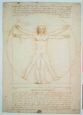 Leonardo Da Vinci, Vitruvian Man - Print by Everett