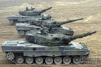 The Main Photograph - Leopard 2a4 Main Battle Tanks by Andrew Chittock