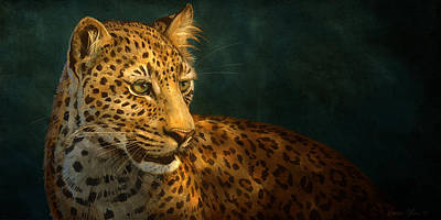 Leopard Digital Art - Leopard by Aaron Blaise