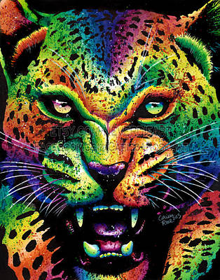 Growling Painting - Leopard by Carissa Rose Stevens