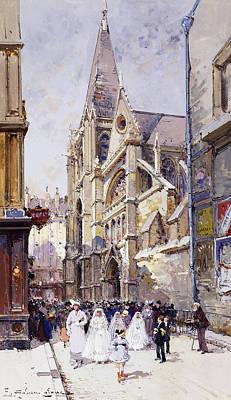 Jacques Painting - Les Communianates A Paris by Eugene Galien-Laloue