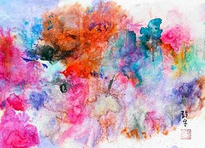 Les Couleur Painting - Les Couleurs De La Vie by Janet Gunderson