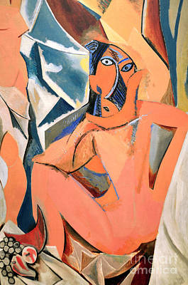 Barcelona Photograph - Les Demoiselles D'avignon Picasso Detail by RicardMN Photography