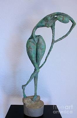 Ceramic Relief Sculpture - Les Filles De L'asse 3 by Flow Fitzgerald