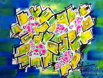 Painting - Les Fleurs Jaune by Gayla Hollis