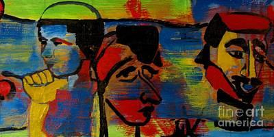 Les Gens A La Lac Two Print by Grace Liberator