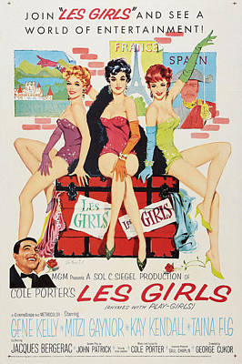 Les Girls Print by MMG Archives
