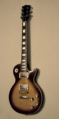 Les Paul Electric Guitar Print by Bill Cannon
