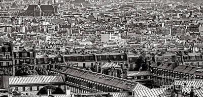 Rooftop Photograph - Les Toits De Paris by Olivier Le Queinec