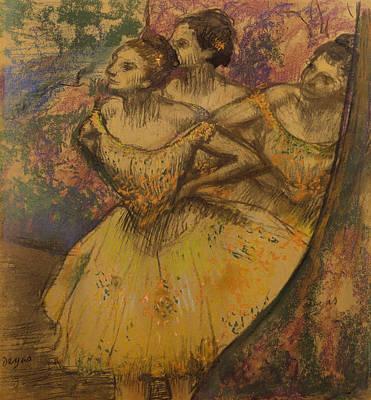 Tutus Drawing - Les Trois Danseuses, C.1896-1905 by Edgar Degas