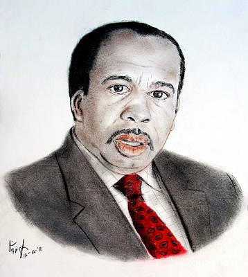 Portrait Drawing - Leslie David Baker As Stanley Hudson On The Office  by Jim Fitzpatrick