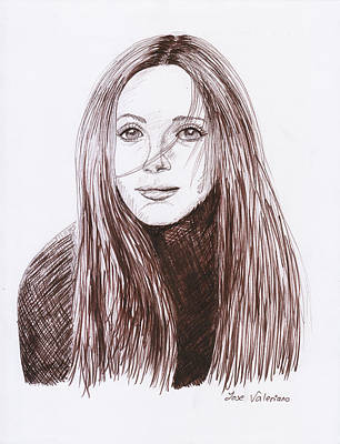 Drawing Drawing - Leslie Mann by Jose Valeriano