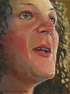 Bronx Painting - Leslie Swanson Bronx Opera Company by Marguerite Chadwick-Juner