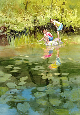 Lessons Of The Lake Print by Kris Parins