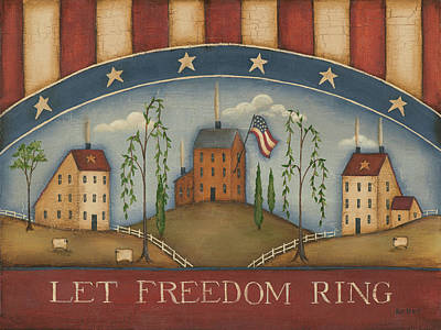 Inspirational Painting - Let Freedom Ring by Kim Lewis