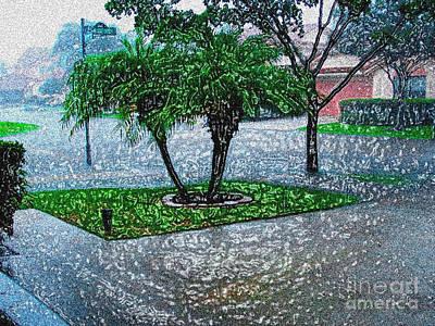 Plasticized Digital Art Photograph - Let It Rain -  Digitally Modified Photo by Merton Allen