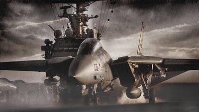 F-14 Digital Art - Let It Rain by Peter Chilelli