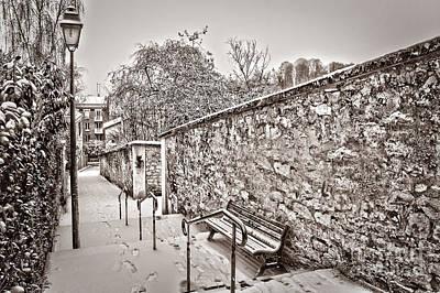 Winter Scenes Photograph - Let It Snow by Delphimages Photo Creations