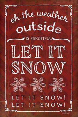 Christmas Painting - Let It Snow by Jennifer Pugh