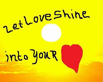Let Love Shine Print by Earnestine Clay