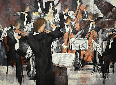 Let The Music Play Print by David Bearden