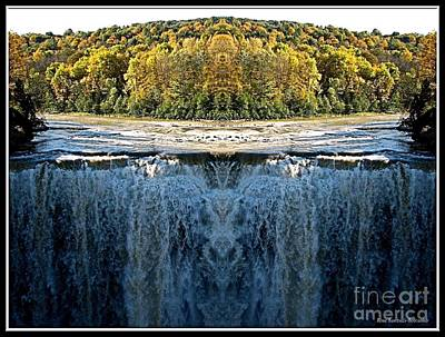 Waterfall Photograph - Letchworth Middle Falls Mirrored by Rose Santuci-Sofranko
