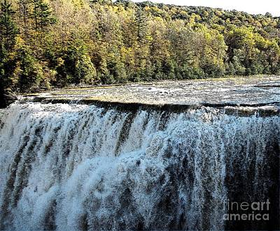 Autumn Photograph - Letchworth State Park Middle Falls In Autumn by Rose Santuci-Sofranko