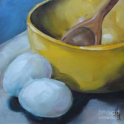 Kristine Painting - Let's Bake by Kristine Kainer