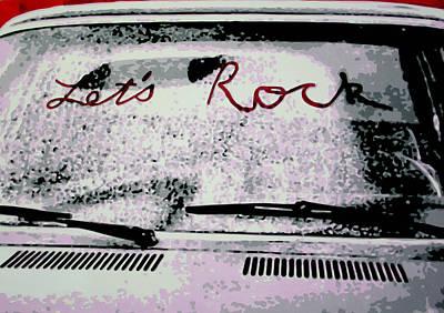Lets Rock Print by Luis Ludzska