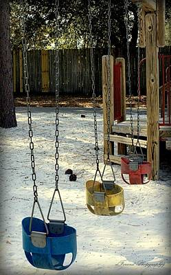 Missing Child Photograph - Let's Swing by Debra Forand