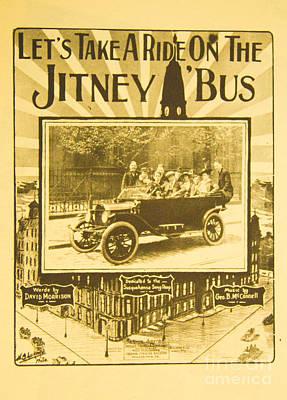 Lets Take A Ride On A Jitney Bus Original by Steven Parker