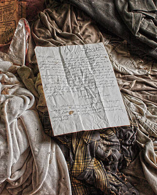 Vintage Clothes Photograph - Letter To A Friend by Jerry Cordeiro