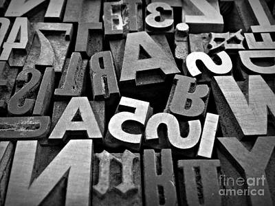 Neurotic Images Photograph - Letters And Numbers 1 by Chalet Roome-Rigdon