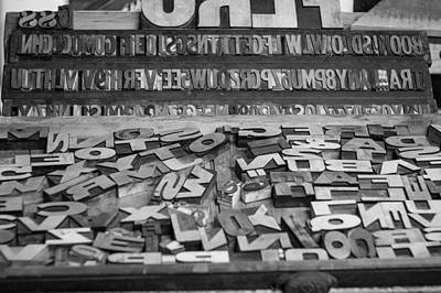 Printmaking Photograph - Letters by Chris Bordeleau