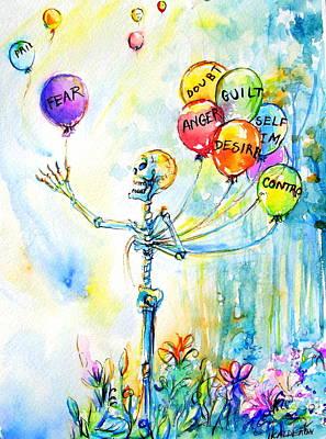 Letting Go Print by Heather Calderon