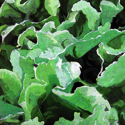 Lettuce Go Green - Food Art Print by Linda Apple